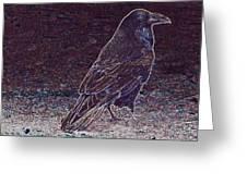 Faithful Raven Greeting Card