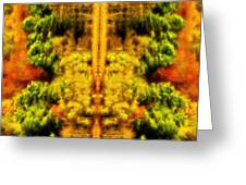Fall Abstract Greeting Card by Meirion Matthias