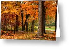 Fall At Home Greeting Card