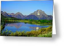 Fall At Oxbow Bend Greeting Card