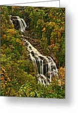 Fall At Whitewater Falls  Greeting Card
