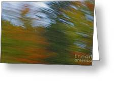 Fall Blur Greeting Card