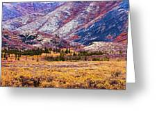Fall Colours In Ogilvie Mountains Greeting Card