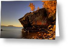 Fall Colours In The Squaw Bay Fallen Rock Greeting Card