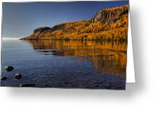 Fall Colours In The Squaw Bay II Greeting Card