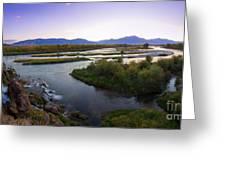 Fall Creek Panorama Greeting Card