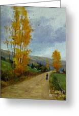 Fall Day Greeting Card by Victoria  Broyles
