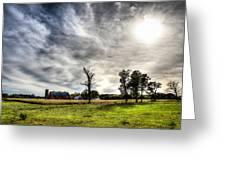 Fall Farm View Greeting Card by Dan Crosby