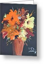Fall Flower Arrangement 1 Greeting Card