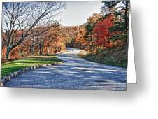 Fall Foliage On The Blue Ridge Parkway Greeting Card