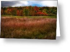 Fall Golf Greeting Card