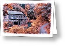 Fall Grist Mill Greeting Card