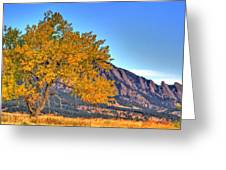 Fall In The Flatirons Greeting Card