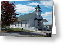 Fall Into Church Greeting Card