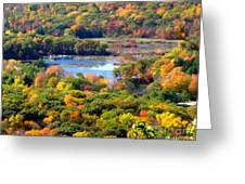 Fall Lake Greeting Card