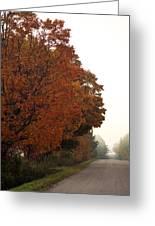 Fall Laneway Greeting Card