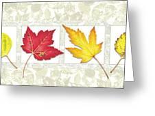 Fall Leaf Panel Greeting Card