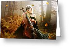 Fall Melody Greeting Card by Mary Hood
