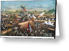Fall Of Petersburg, 1865 Greeting Card by Granger