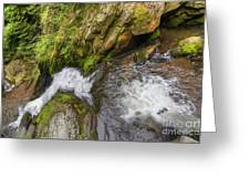 Fall Of Water Greeting Card