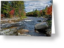 Fall On Swift River Greeting Card