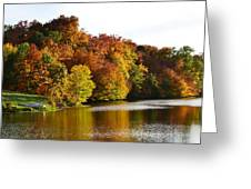 Fall On The Pond Greeting Card