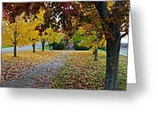 Fall Park Greeting Card