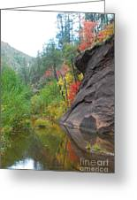 Fall Peeks From Behind The Rocks Greeting Card by Heather Kirk