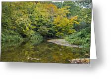 Fall Reflection Pool Greeting Card