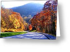Fall Road 2 Greeting Card