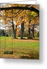 Fall Swing Greeting Card by Jennifer Compton
