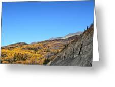 Fall Talkeetna Mountains Greeting Card