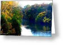 Fall Time Creek Greeting Card