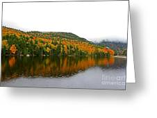 Fall View Of Saco Lake And Elephants Head Greeting Card