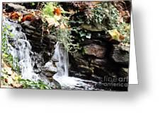 Fall Waterfall Greeting Card