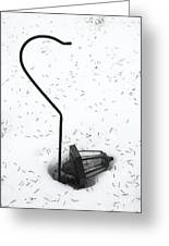 Fallen Lamplight In Snow Greeting Card