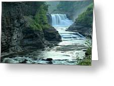 Falling Into The Genesee Greeting Card