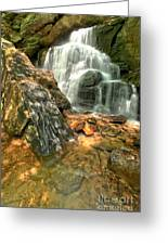 Falling Through The Rocks Greeting Card