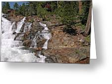 Falling Water Glen Alpine Falls Greeting Card