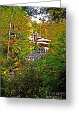 Falling Waters House Setting Greeting Card