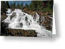 Falls Glen Alpine Falls Tahoe Greeting Card