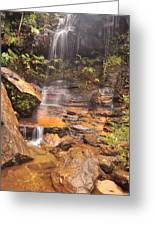 Falls In The Valley Greeting Card