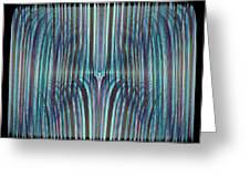 Falls Of Blue Greeting Card