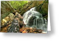 Falls Through The Rocks Greeting Card