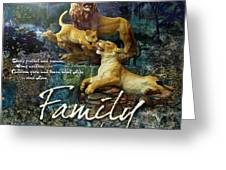 Family Greeting Card by Evie Cook