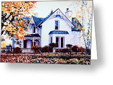 Family Home Portrait Greeting Card