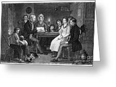 Family Reading, 1840 Greeting Card