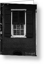 Famous New Orleans Po Boys Neon Window Sign Black And White Poster Edges Digital Art Greeting Card