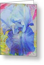 Fanciful Flowers - Iris Greeting Card