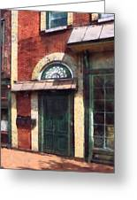 Fancy Green Door Burlington Nj Greeting Card